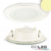 LED Downlight GLASS, 12W, warmweiß
